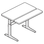 WorkRite Sierra Rectangular Bi-Level Electric Table