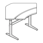 WorkRite Sierra Equal Corner-2 legs, Bi-Level Electric Table