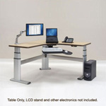 WorkRite Sonoma Value Equal Corner-3 Legs, Keyboard Cutout Table
